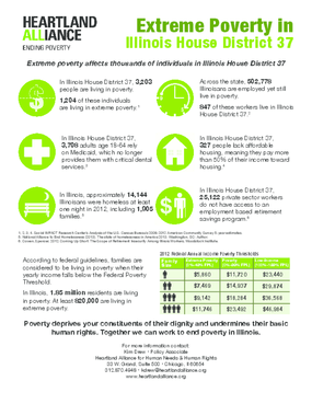 Poverty Fact Sheets for Illinois House District 37
