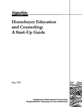 Homebuyer Education and Counseling: A Start-Up Guide