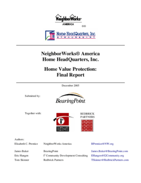 Home Value Protection: Final Report