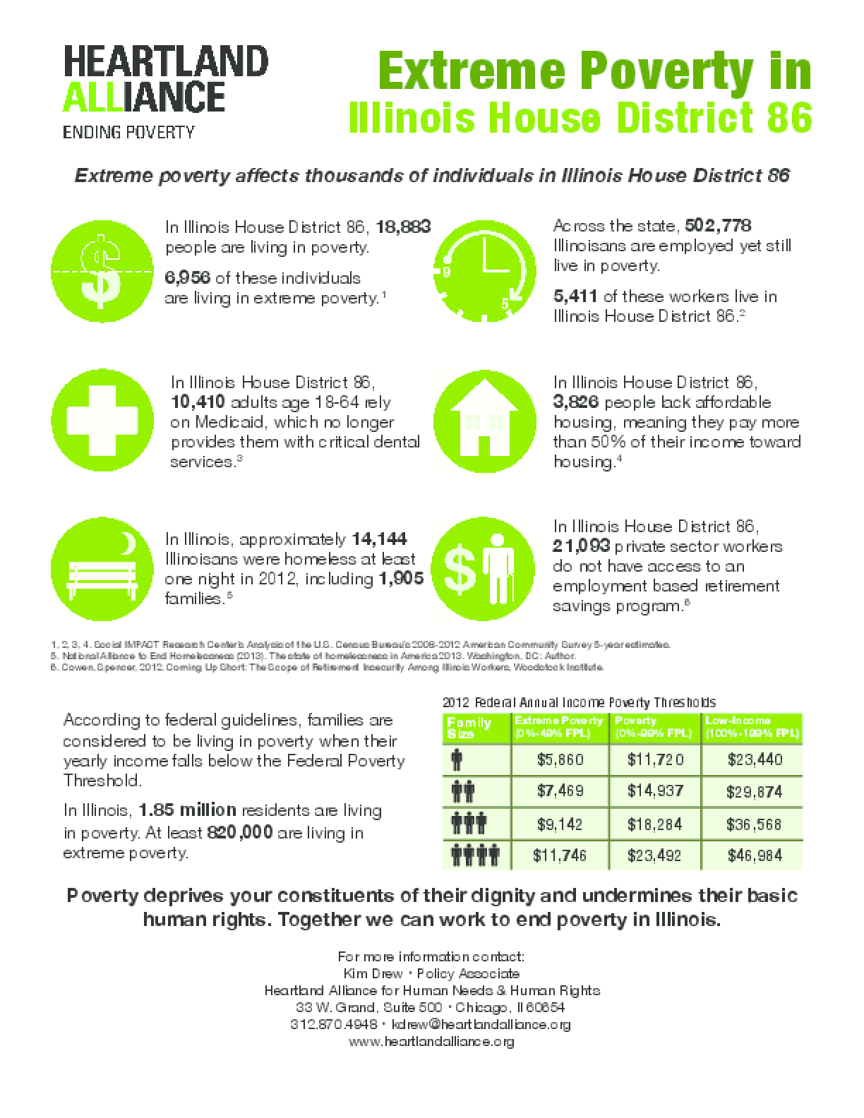 Poverty Fact Sheets for Illinois House District 86