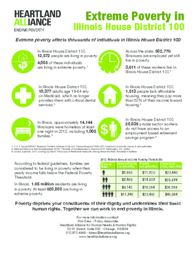 Poverty Fact Sheets for Illinois House District 100
