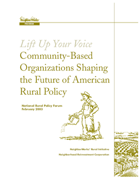 Lift Up Your Voice: Community-Based Organizations Shaping the Future of American Rural Policy