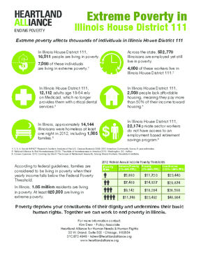Poverty Fact Sheet for Illinois House District 111