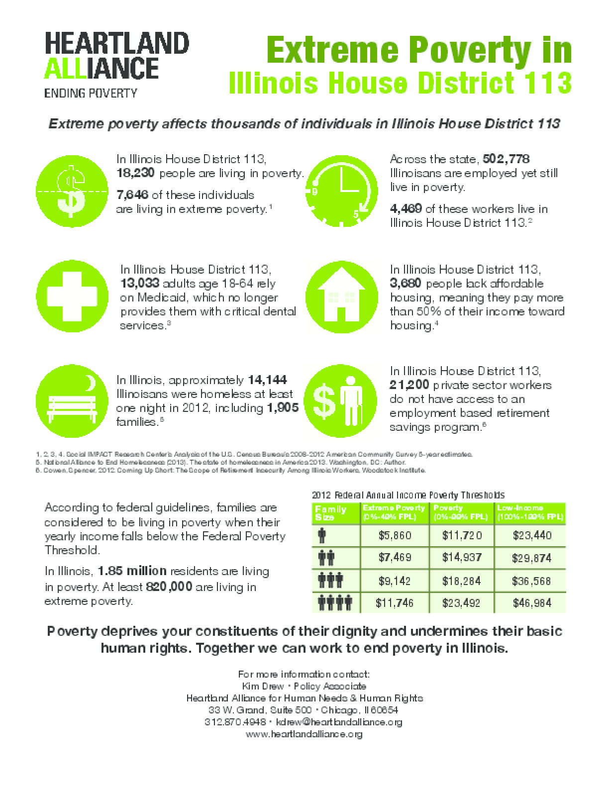 Poverty Fact Sheet for Illinois House District 113