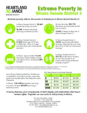 Poverty Fact Sheet for Illinois Senate District 3