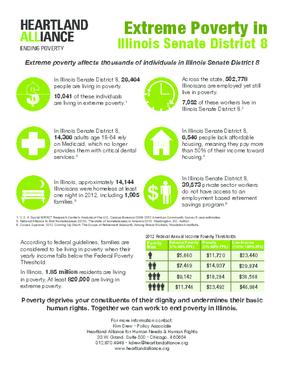 Poverty Fact Sheet for Illinois Senate District 8