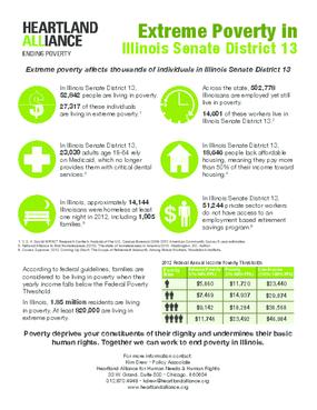 Poverty Fact Sheet for Illinois Senate District 13