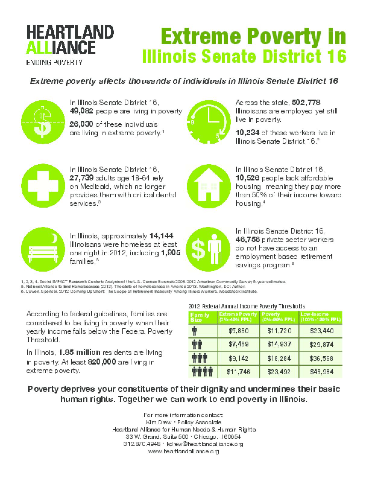 Poverty Fact Sheet for Illinois Senate District 16