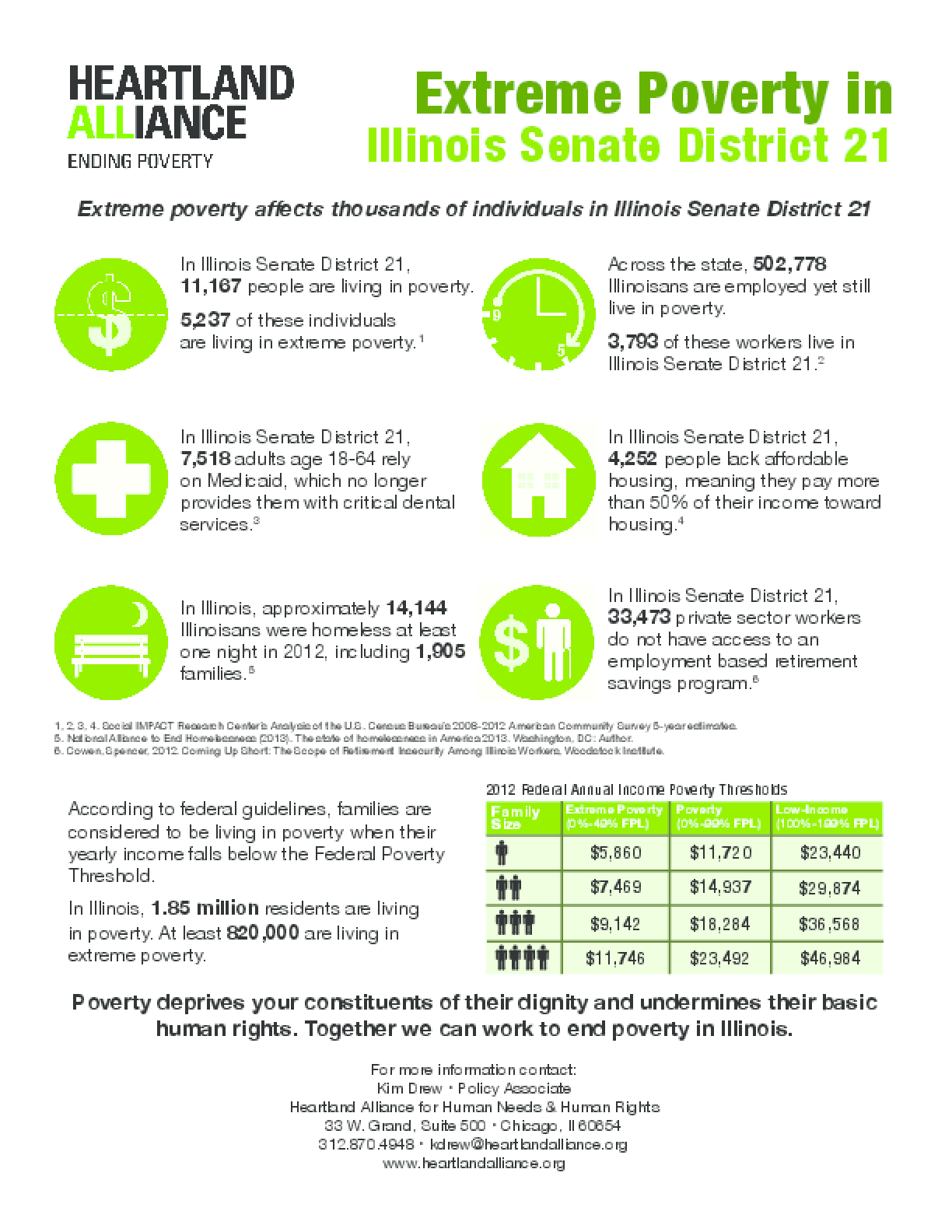 Poverty Fact Sheet for Illinois Senate District 21