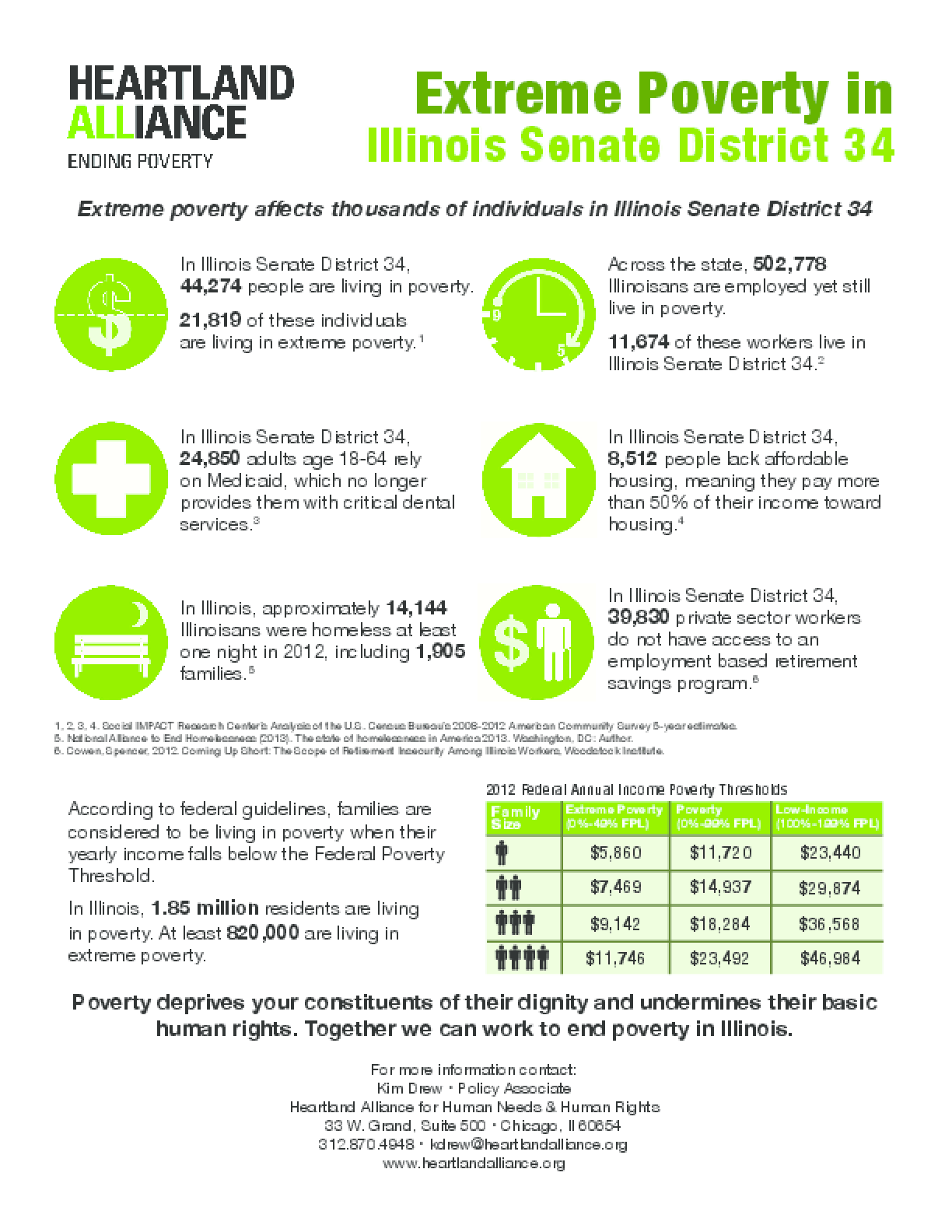 Poverty Fact Sheet for Illinois Senate District 34