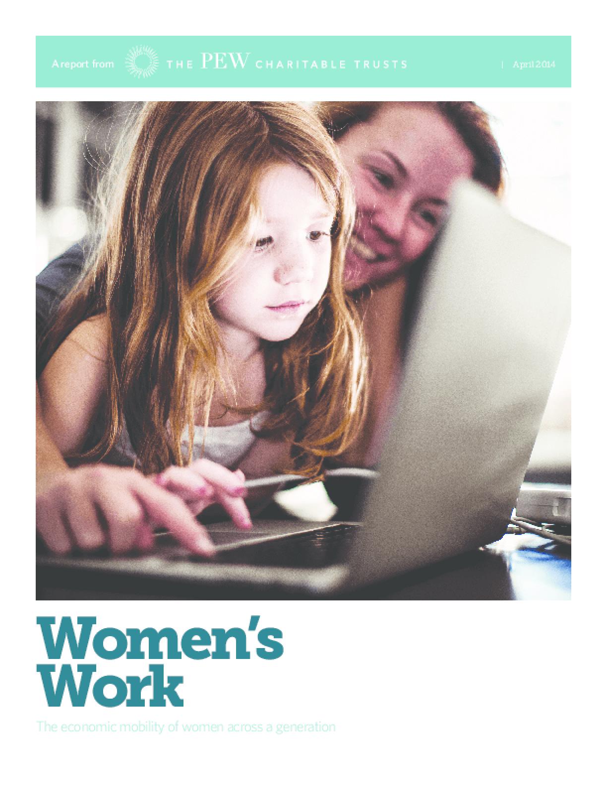 Women's Work: The Economic Mobility of Women Across a Generation
