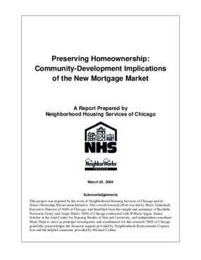 Preserving Homeownership: Community-Development Implications of the New Mortgage Market