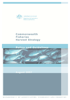 Commonwealth Fisheries Harvest Strategy: Policy and Guidelines