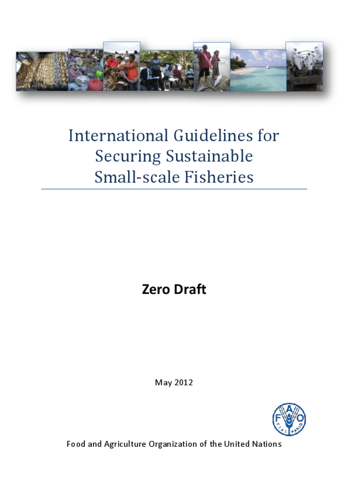 International Guidelines for Securing Sustainable Small-scale Fisheries