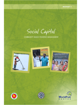 Social Capital: Communities Based Fisheries Management