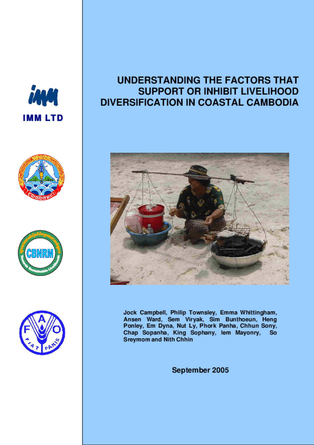 Understanding the Factors that Support or Inhibit Livelihood Diversification in Coastal Cambodia