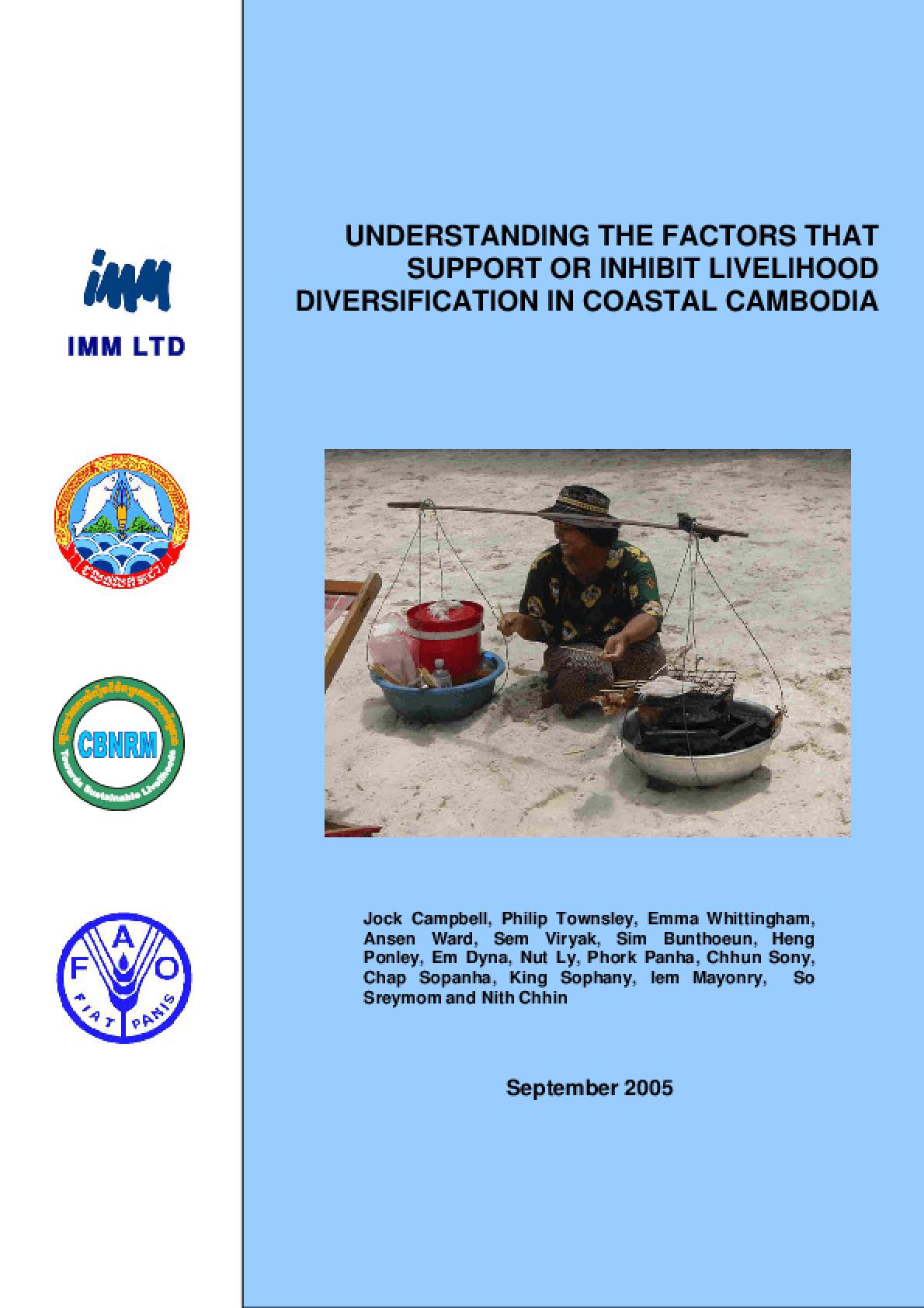 Understanding the Factors that Support or Inhibit Livelihood Diversification in Coastal Cambodia