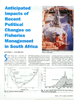 Anticipated Impacts of Recent Political Changes on Fisheries Management in South Africa