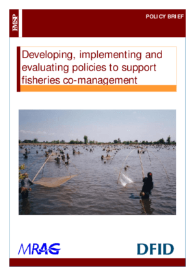 Developing, Implementing and Evaluating Policies to Support Fisheries Co-management