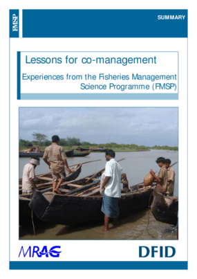 Lessons for Co-management: Experiences from the Fisheries Management Science Programme (FMSP)