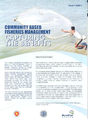 Community Based Fisheries Management: Capturing the Benefits