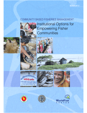Community Based Fisheries Management: Institutional Options for Empowering Fisher Communities