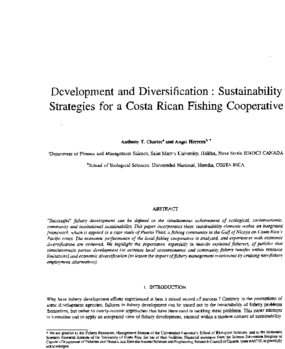 Development and Diversification: Sustainability Strategies for a Costa Rican Fishing Cooperative