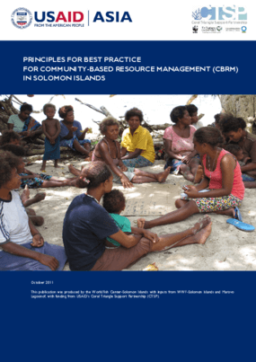 Principles for Best Practice For Community-Based Resource Management (CBRM) In Solomon Islands