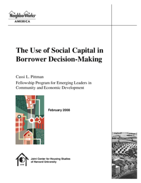 The Use of Social Capital in Borrower Decision-Making