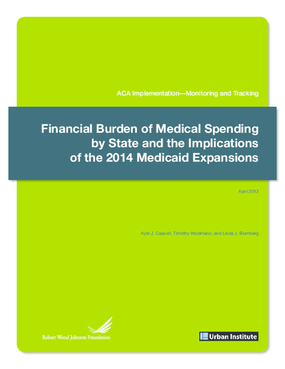 Financial Burden of Medical Spending by State and the Implications of the 2014 Medicaid Expansions