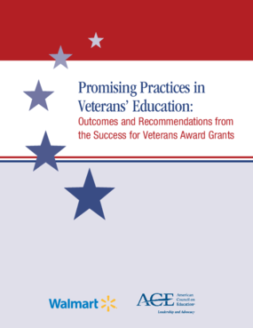 Promising Practices in Veterans' Education: Outcomes and Recommendations from the Success for Veterans Award Grants