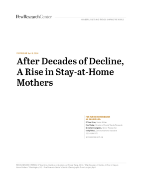 After Decades of Decline, A Rise in Stay-at-Home Mothers