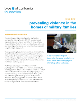Preventing Violence in the Homes of Military Families