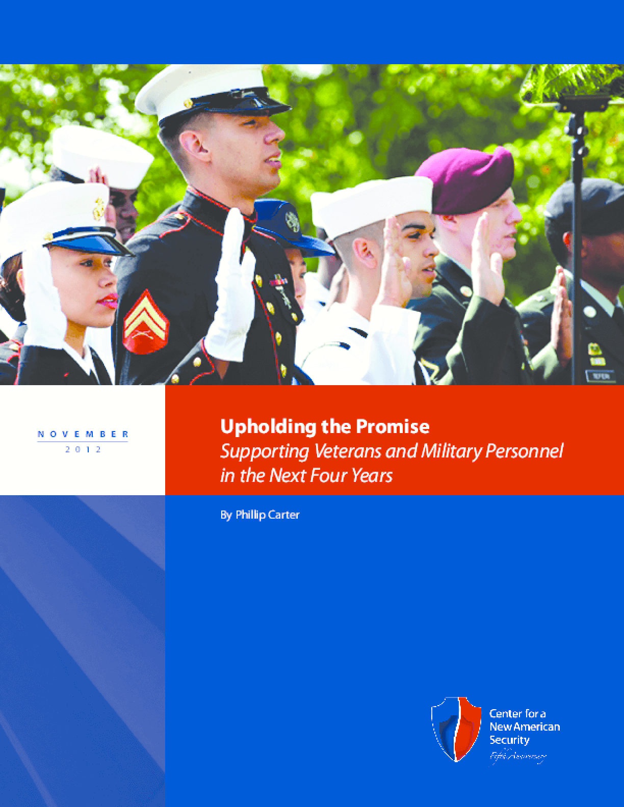 Upholding the Promise: Supporting Veterans and Military Personnel in the Next Four Years
