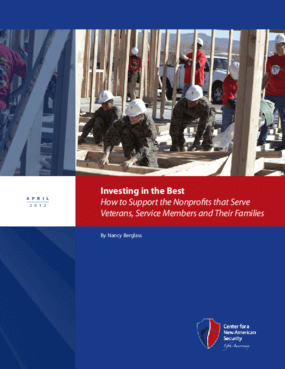Investing in the Best: How to Support the Nonprofits that Serve Veterans, Service Members and Their Families