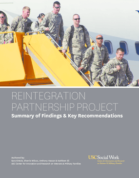 Reintegration Partnership Project: Summary of Key Findings and Recommendations