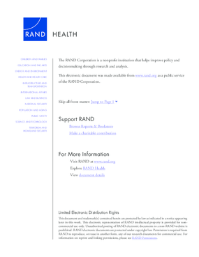 A Needs Assessment of New York State Veterans: Final Report to the New York State Health Foundation, Summary
