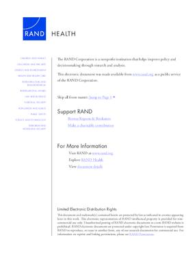 Veterans Health Administration Mental Health Program Evaluation, Summary
