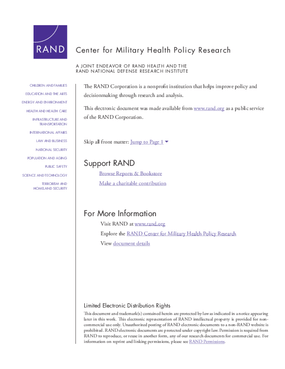 Health and Economic Outcomes in the Alumni of the Wounded Warrior Project, Summary