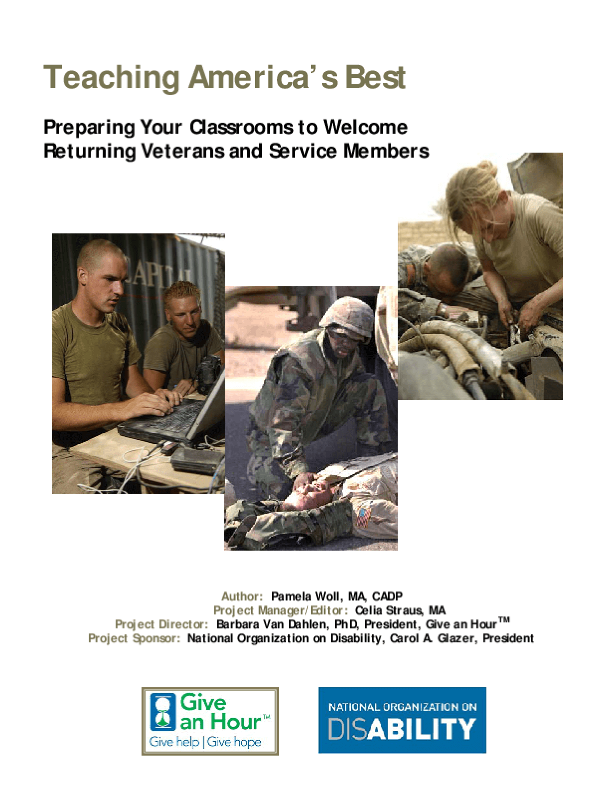 Teaching America's Best: Preparing Your Classrooms to Welcome Returning Veterans and Service Members