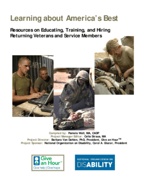 Learning about America's Best: Resources on Educating, Training, and Hiring Returning Veterans and Service Members
