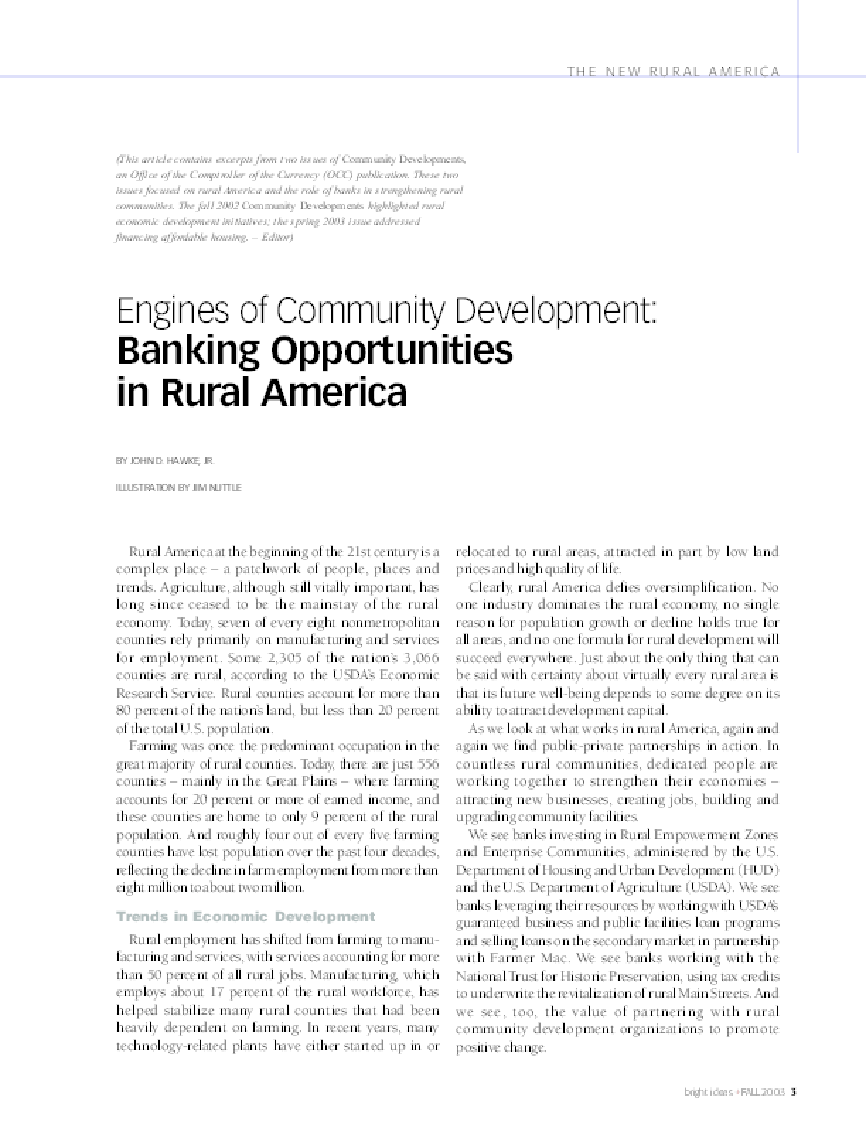 The New Rural America: Old Myths, New Realities