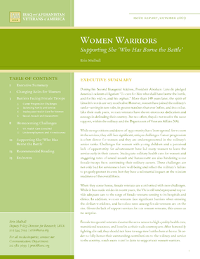 Women Warriors: Supporting She 'Who Has Borne the Battle'