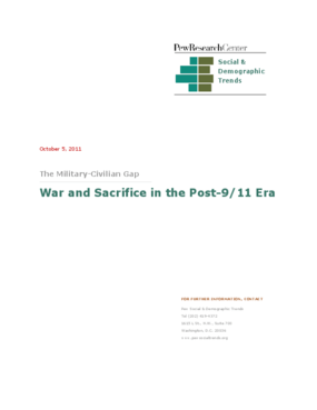 War and Sacrifice in the Post-9/11 Era: The Military and Civilian Gap