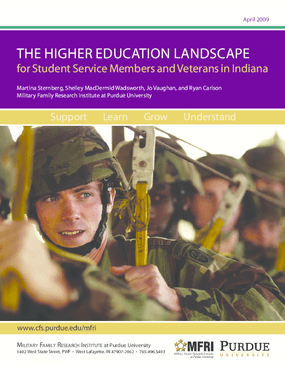 The Higher Education Landscape for Student Service Members and Veterans in Indiana