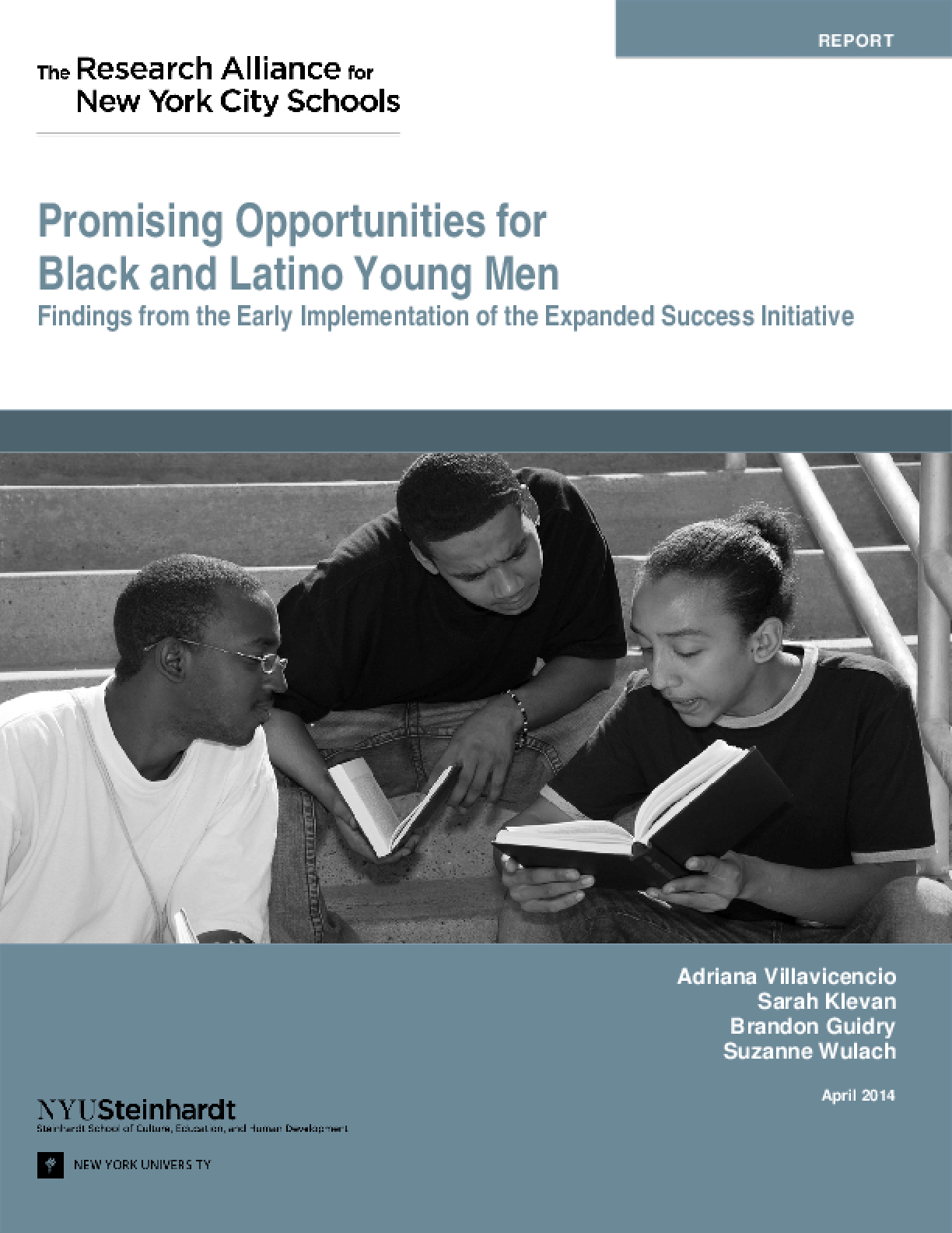Promising Opportunities for Black and Latino Young Men: Findings from the Early Implementation of the Expanded Success Initiative