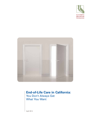 End-of-Life Care in California: You Don't Always Get What You Want