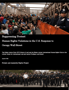 Suppressing Protest: Human Rights Violations in the U.S. Response to Occupy Wall Street
