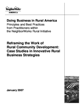 Reframing the Work of Rural Community Development: Case Studies in Innovative Rural Business Strategies
