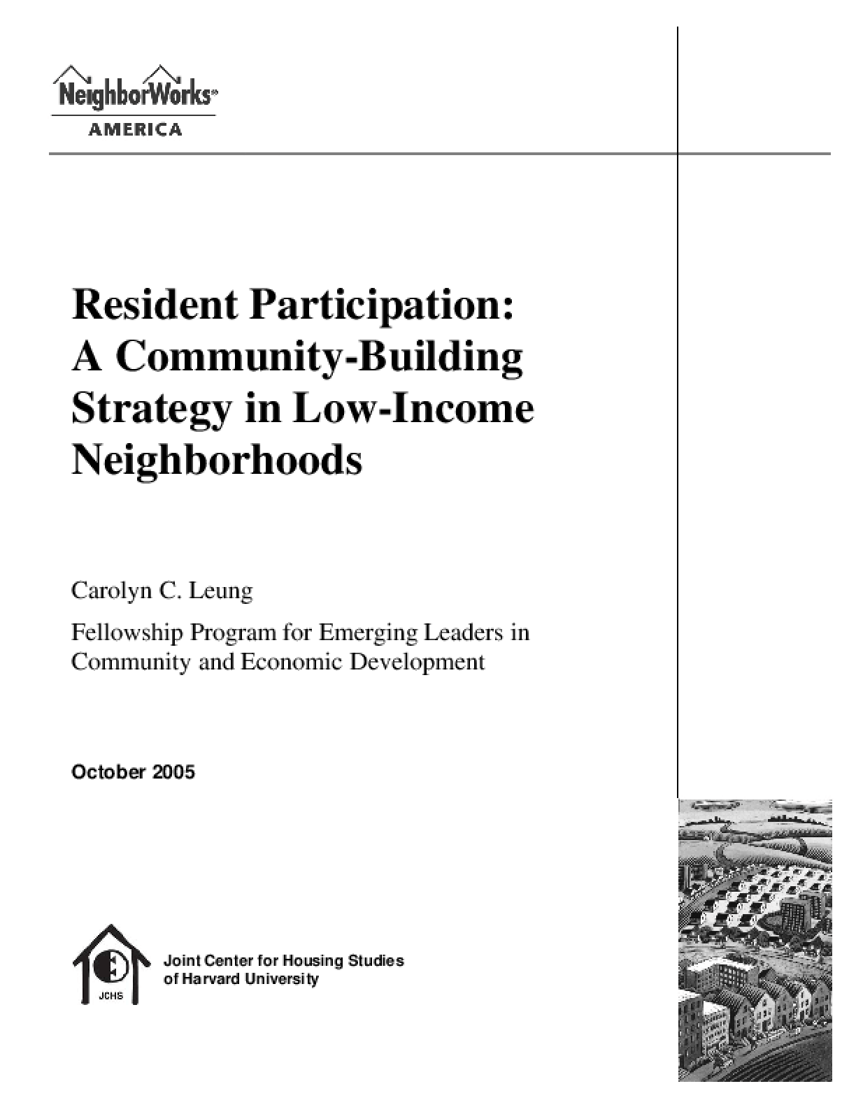 Resident Participation: A Community-Building Strategy in Low-Income Neighborhoods